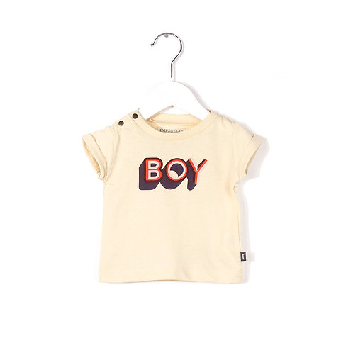 "Tee-shirt pour bébé ""BOY"" egg white"