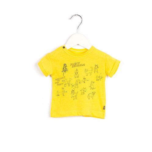T-shirt pour bébé dogs party jelly yellow