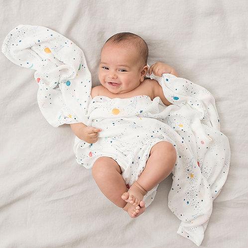 Grand Lange en mousseline de bambou pour bébé Aden Anais