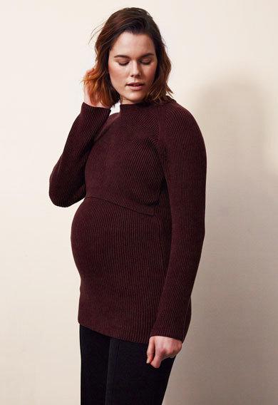 Pull femme enceinte et allaitement prune