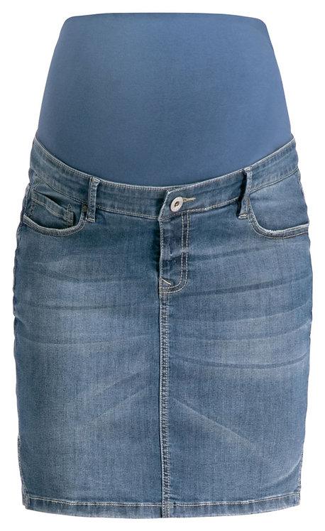 Jupe en jean pour femme enceinte used denim