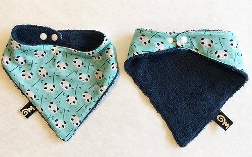 Bavoir bandana pour bebe imprime panda