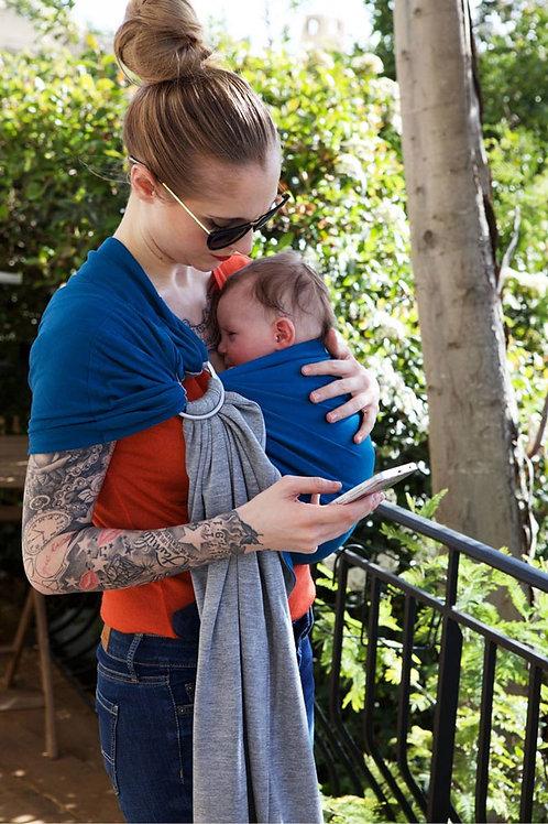 Echarpe sans noeud portage bébé Love Radius (Je porte mon bébé) bleu gris