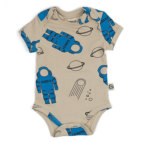 Body bébé manches courtes coton bio astronautes onnolulu