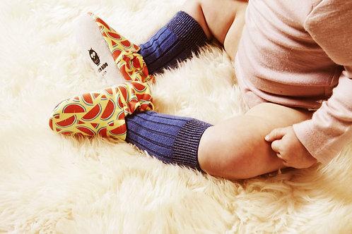 Chaussons pour bébé imprimés pastèques Poconido