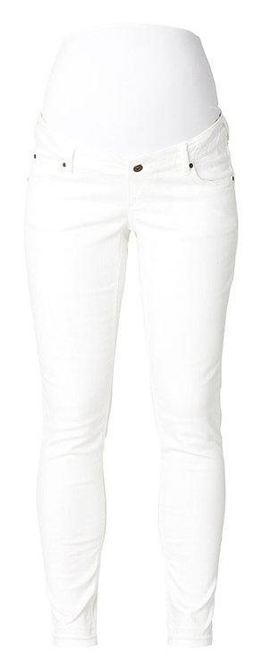 Jean slim blanc de grossesse 7/8 ème