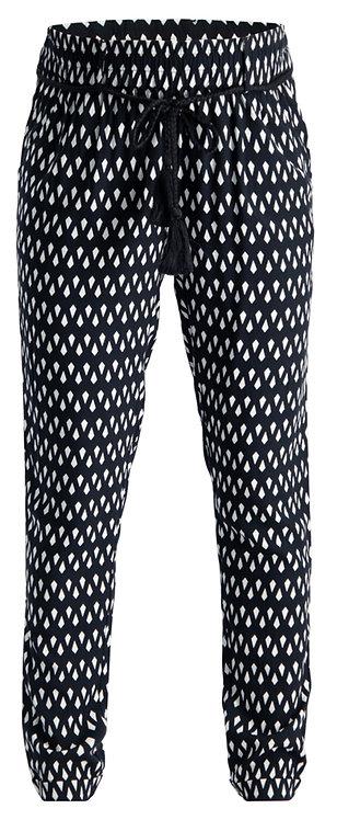 Pantalon grossesse fluide noir et blanc