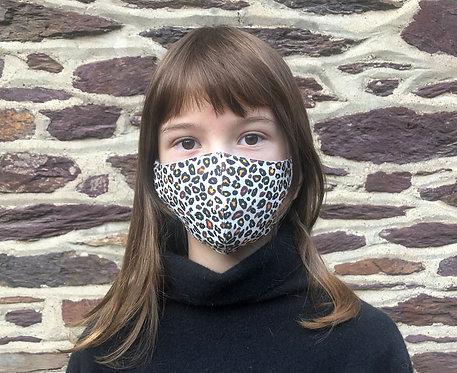 Masque tissu adulte, ado et enfant léopard