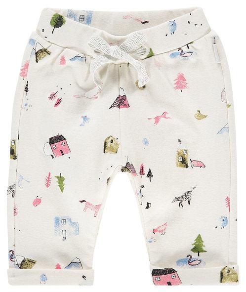 Pantalon pour bébé imprimé whisper white