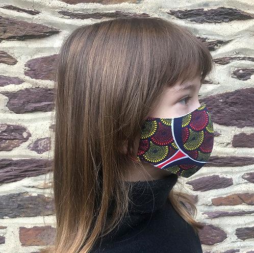 Masque tissu adulte, ado et enfant wax