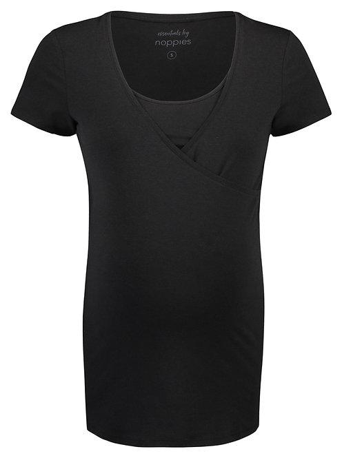 t-shirt femme enceinte et allaitement noir
