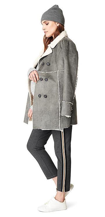 Manteau de grossesse gris