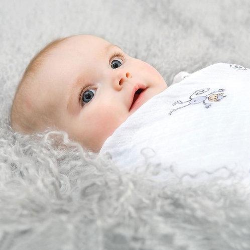 Maxi lange emmaillotage bébé mousseline coton singes