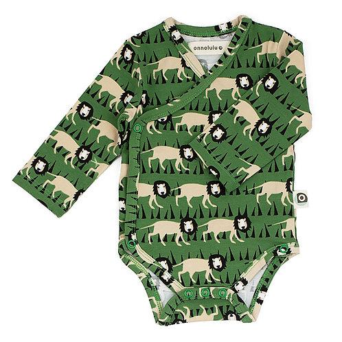 Body bébé kimono coton bio lions onnolulu