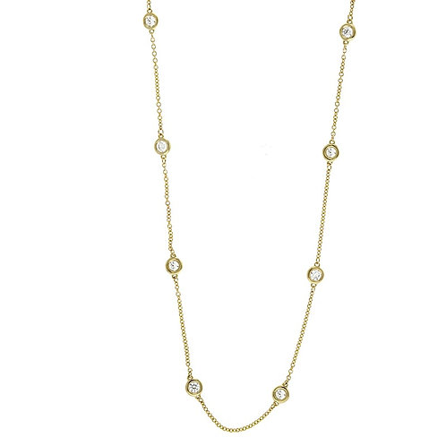 Diamond Station Necklace - 8s