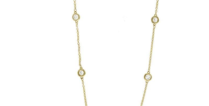 Diamond Station Necklace - 8s