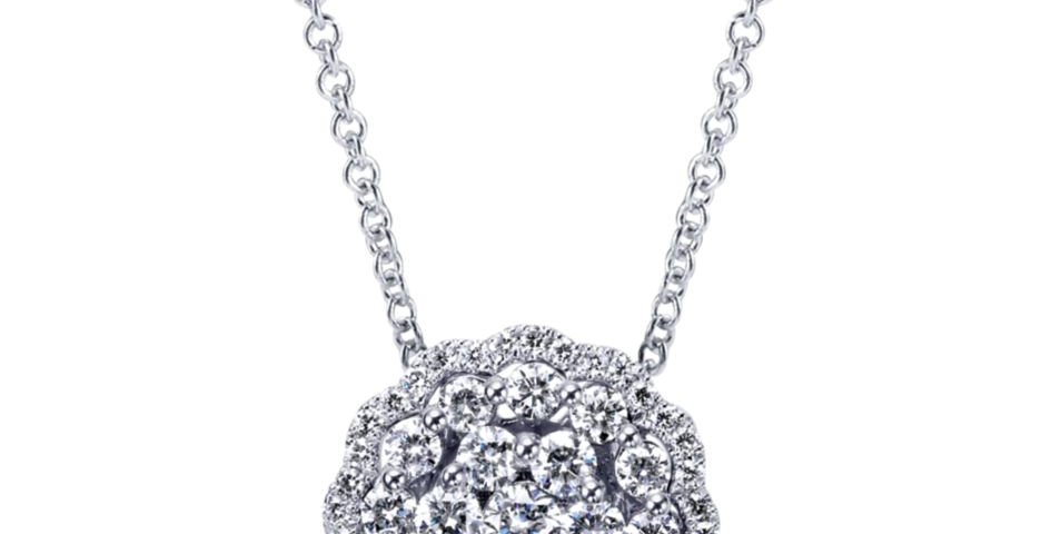 Gabriel & Co.- Round Cluster Diamond Necklace