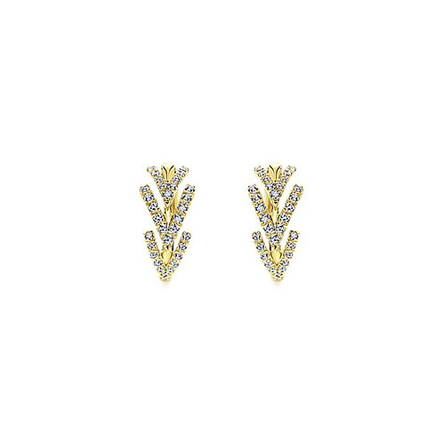 Gabriel & Co.- Geometric Diamond Hoops