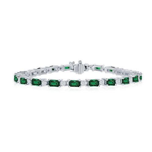 DFJ Emerald & Diamond Bracelet
