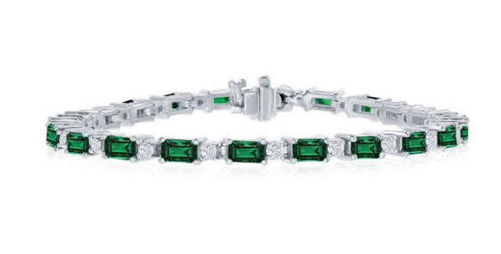 Jewels by Jacob Emerald & Diamond Bracelet