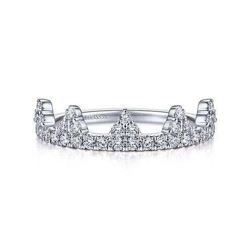 Gabriel & Co - Diamond Crown Ring