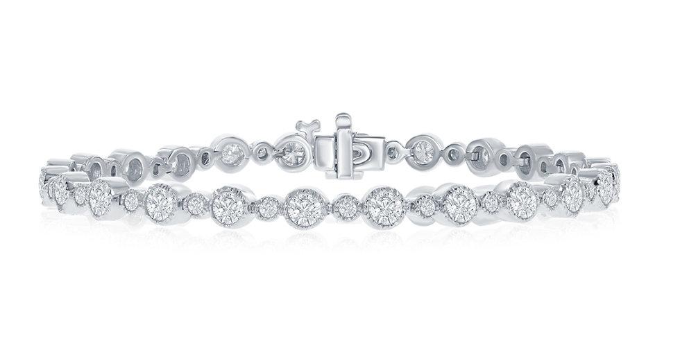 DFJ Bezel Set Bracelet