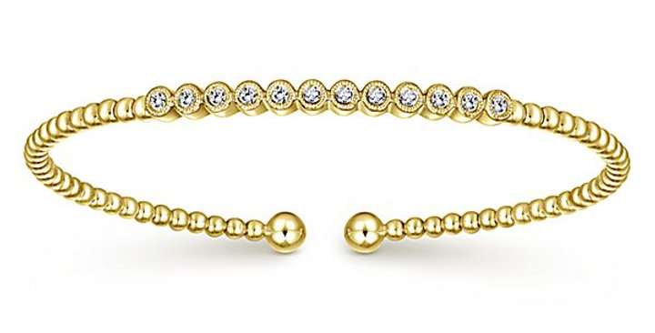 Gabriel & Co.- Bezel Set Diamond Bangle