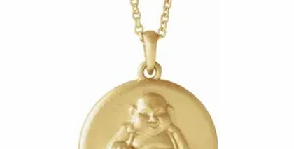 Buddha Disc Charm Necklace