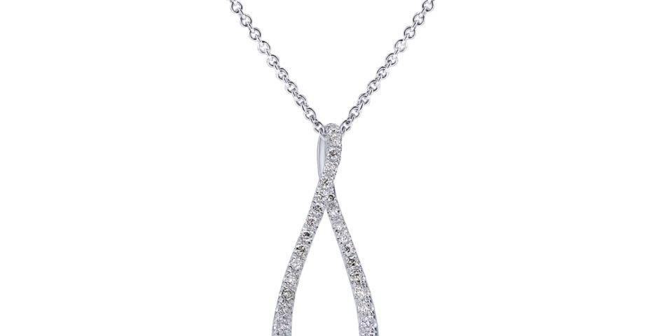 Gabriel & Co. - Teardrop Diamond Pendant