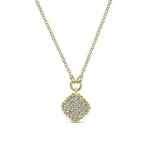 Gabriel & Co. - Geometric Pave Diamond Beaded Necklace