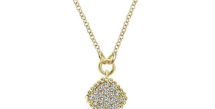 Gabriel & Co. - Geometric Pave Diamond Beaded Necklace