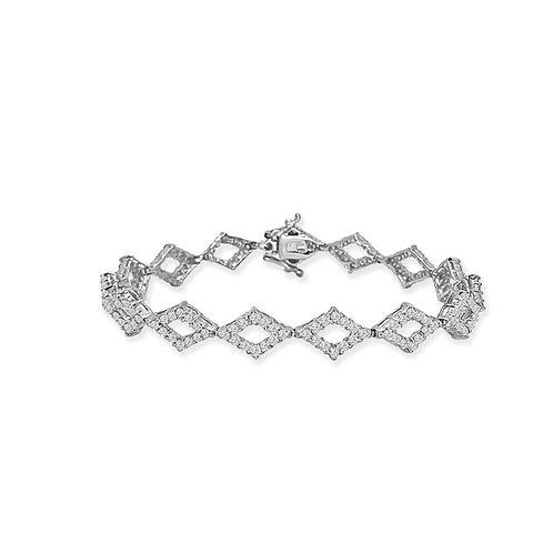 Geometric Diamond Tennis Bracelet