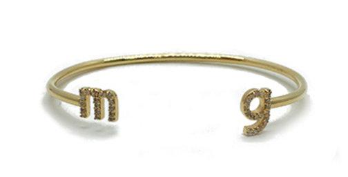 Mini Initial Diamond Cuff