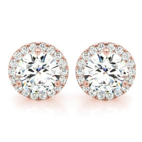 A Clic Pair Of Diamond Studs Accentuated With Halo Perfect For Day Or Night Dressed Up Down