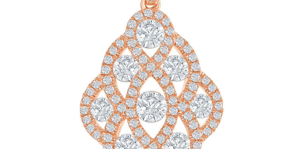 DFJ Woven Diamond Pendant