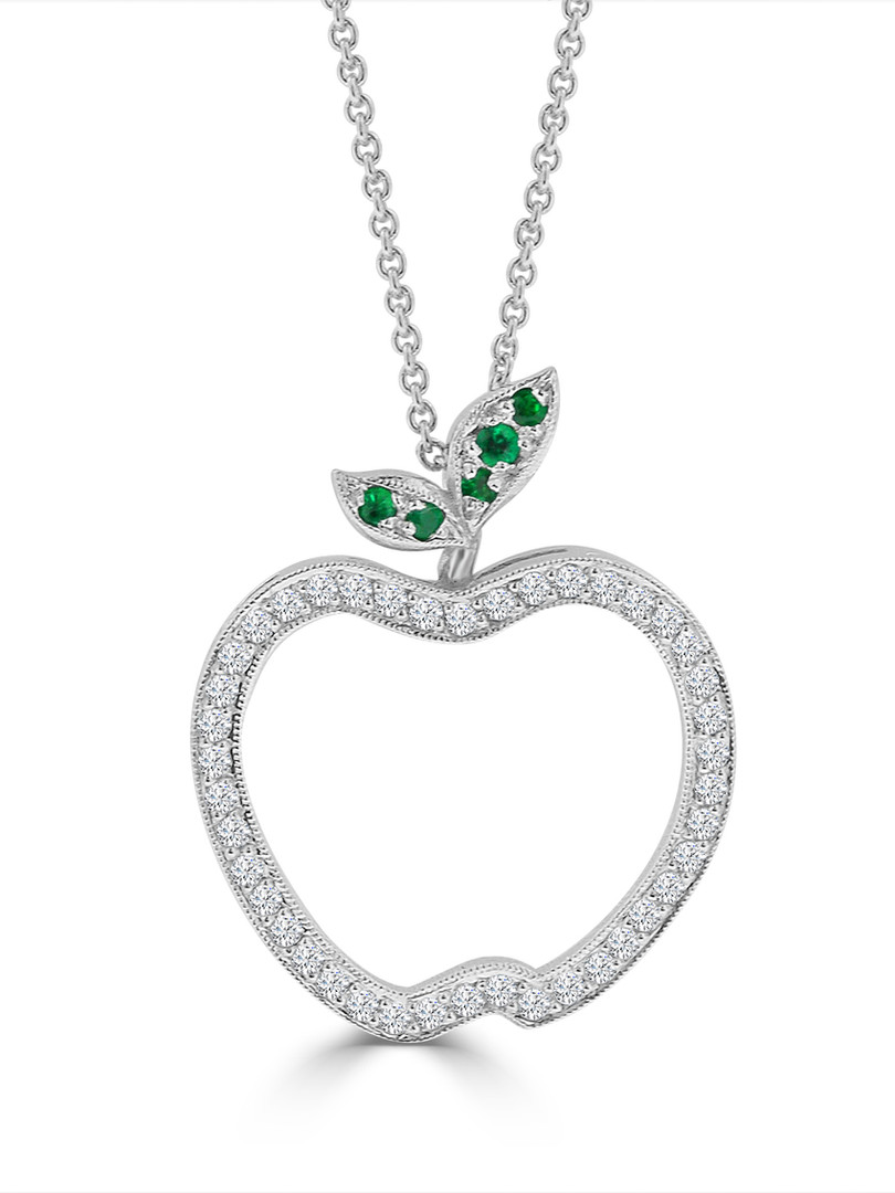 Diamond and Emerald Apple Pendant.JPG