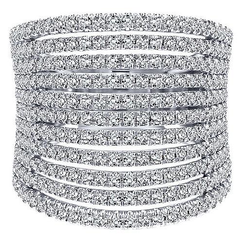 Gabriel & Co.- Multi Row Pave Diamond Ring