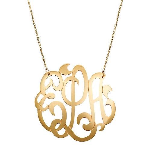 Jane Basch - Freeform Script Monogram Necklace