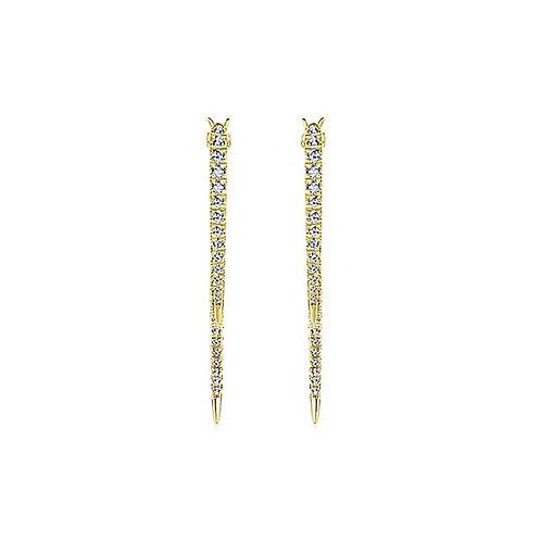 Gabriel & Co.- Straight Peek-a-Book Earrings