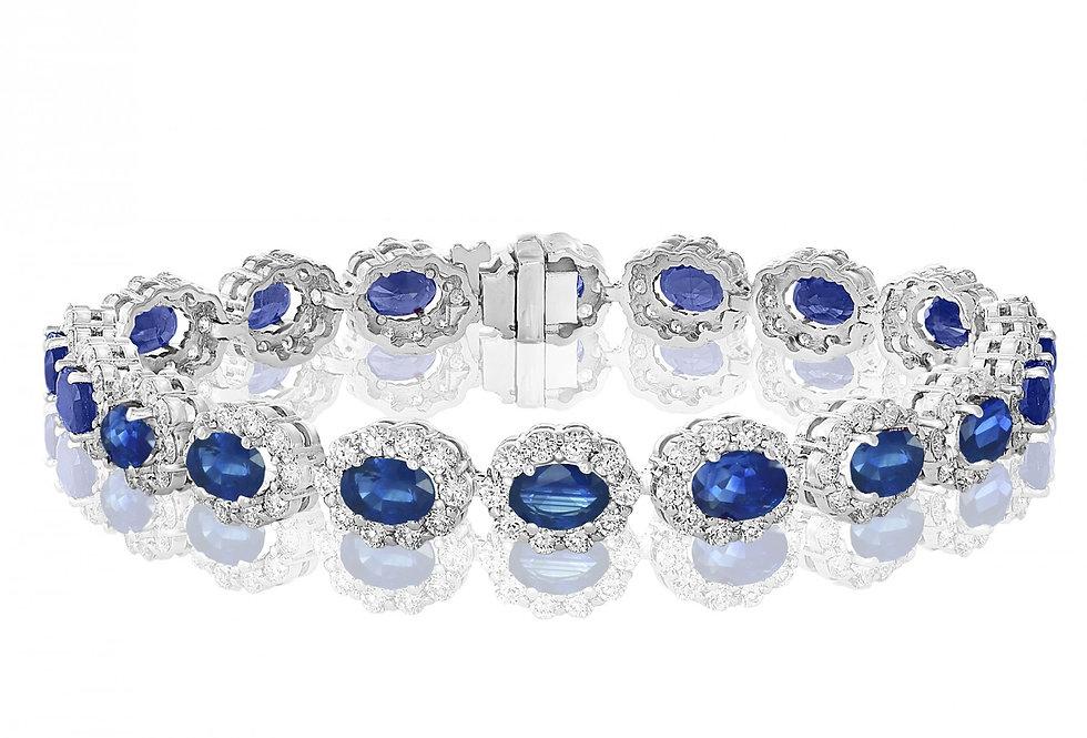 Jewels by Jacob Sapphire & Diamond Bracelet