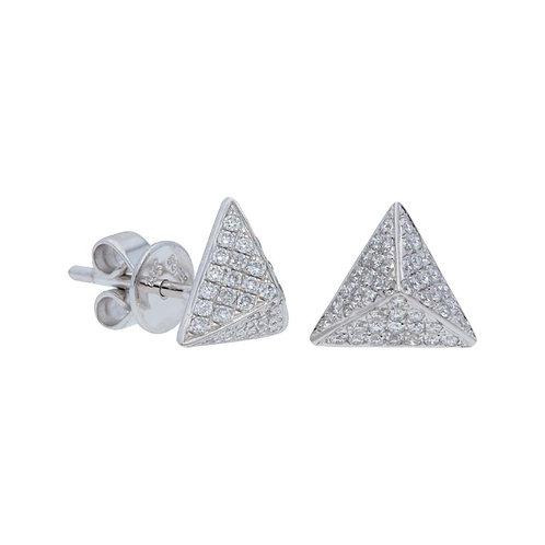 Pave Diamond Pyramid Studs