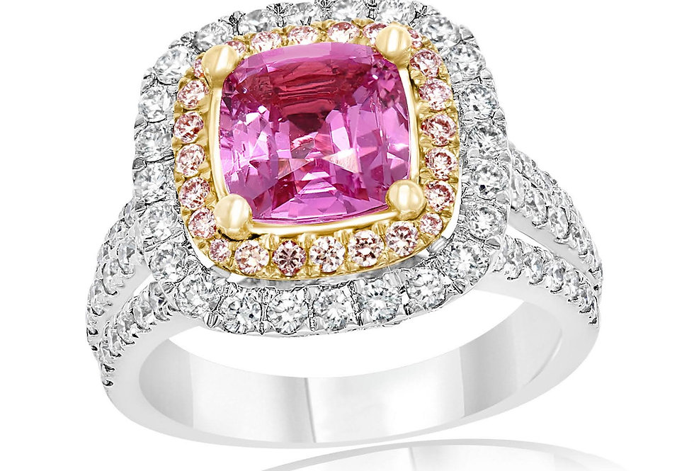 DFJ Pink Sapphire & Diamond Ring