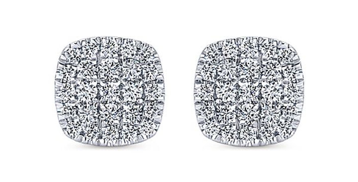 Gabriel & Co.- Pave Diamond Cushion Earrings
