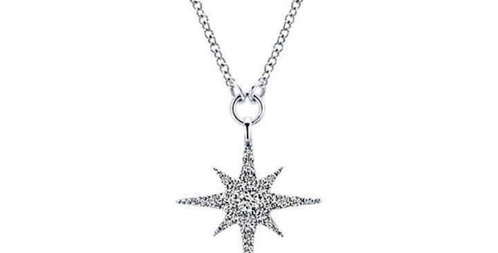 Gabriel & Co. - Star Diamond Necklace