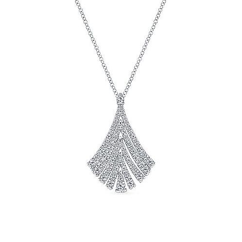 Gabriel & Co. - Flared Diamond Necklace