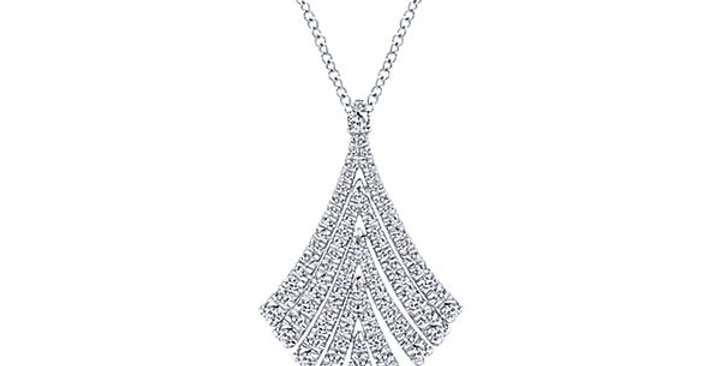 Gabriel & Co. - Flared Diamond Necklace