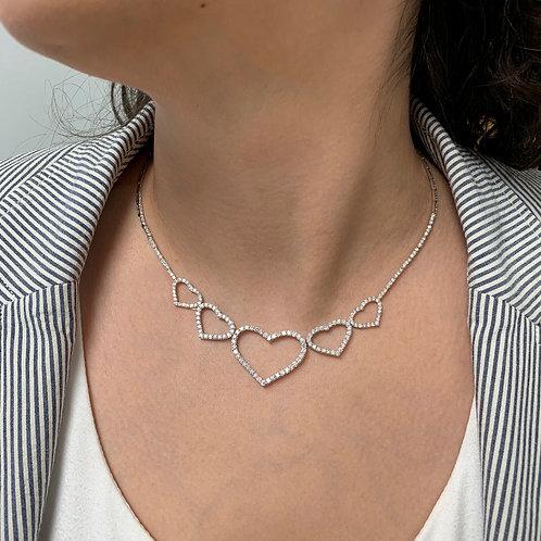 Fancy Diamond Heart Necklace