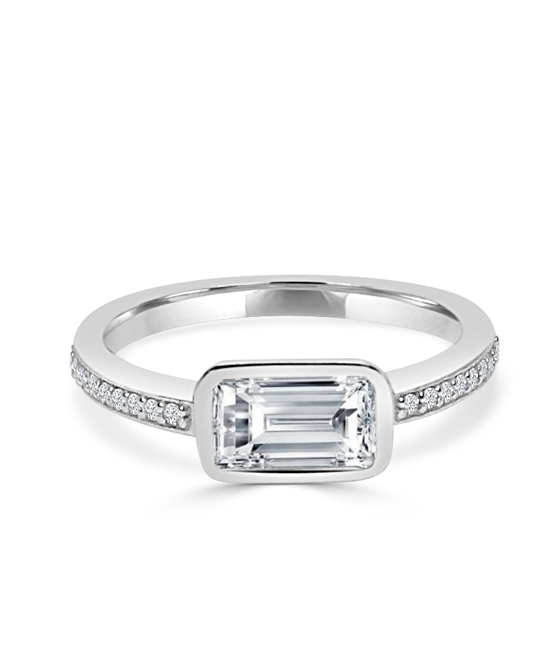 Sideways Emerald Cut Diamond Ring.JPG