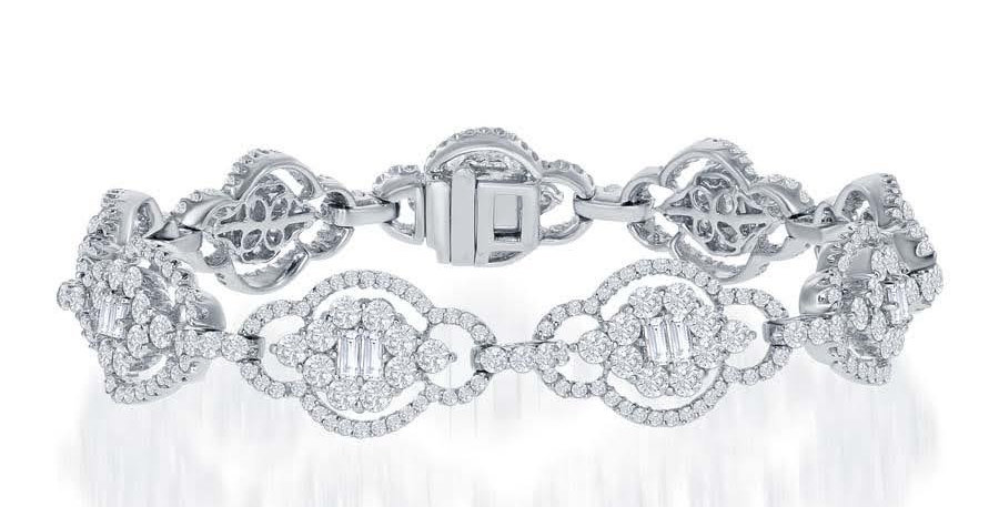 Jewels by Jacob Elongated Link Diamond Bracelet