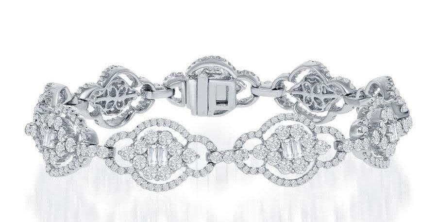 DFJ Elongated Link Diamond Bracelet